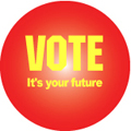vote its your future button